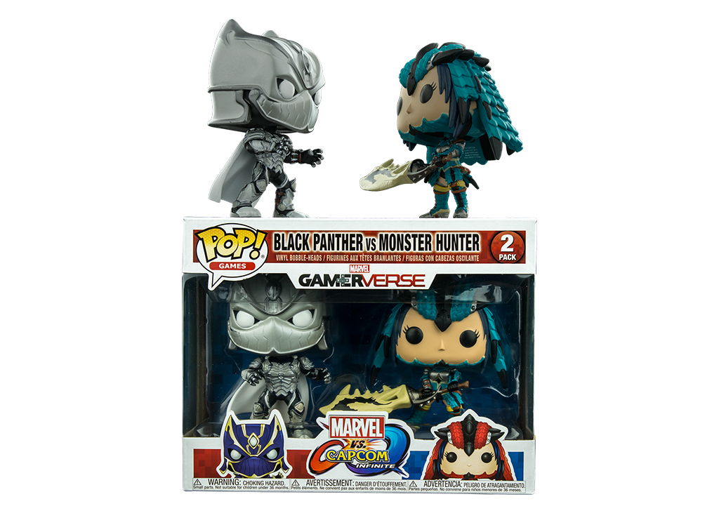 Marvel Vs Capcom Black Panther and  Monster Hunter 2 Pack Funko POP Vinyl Figure