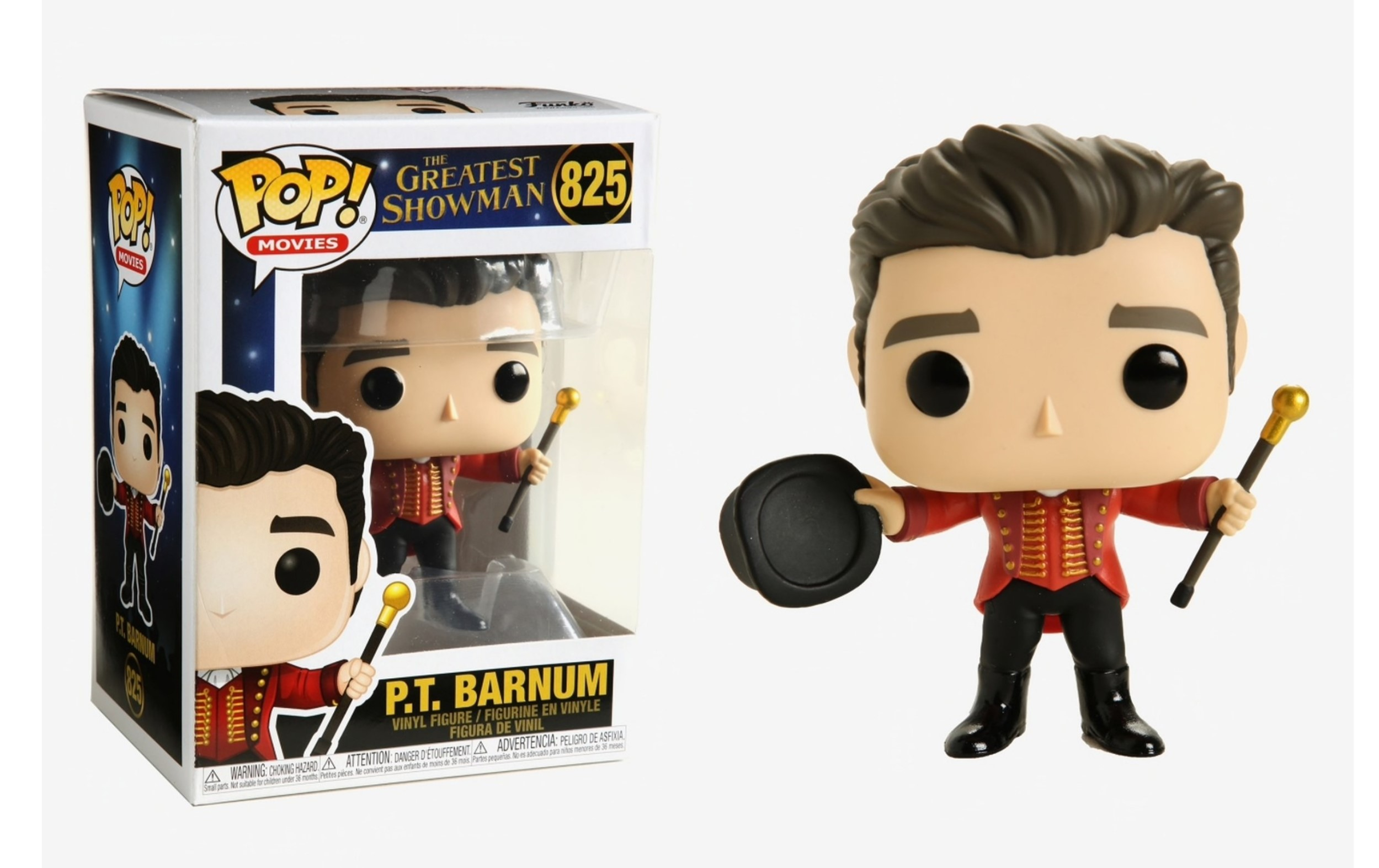 The Greatest Showman P.T. Barnum 825 Funko POP Vinyl Figure