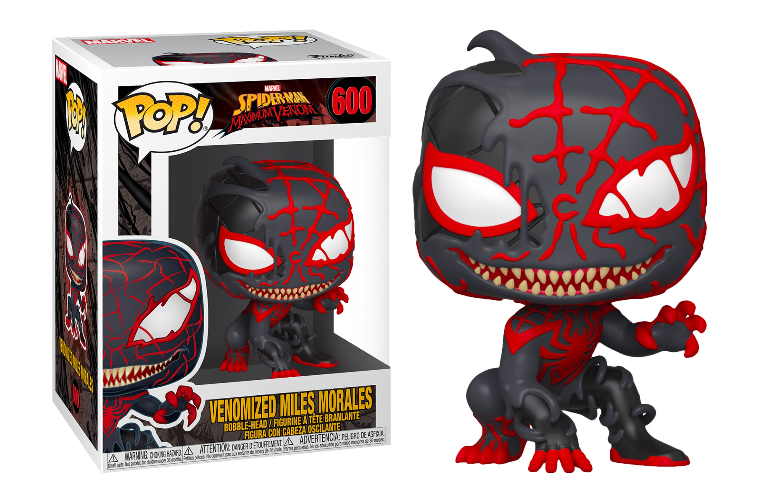 Marvel Venomized Miles Morales 600 Funko POP Vinyl Figure