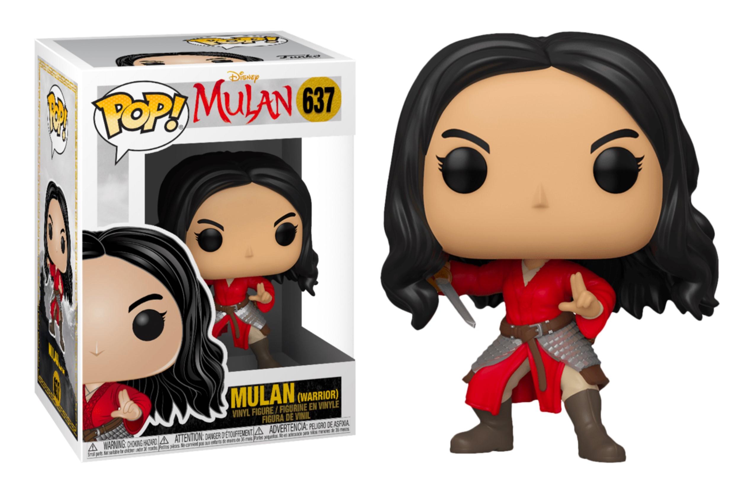 Disney Mulan Warrior 637 Funko POP Vinyl Figure