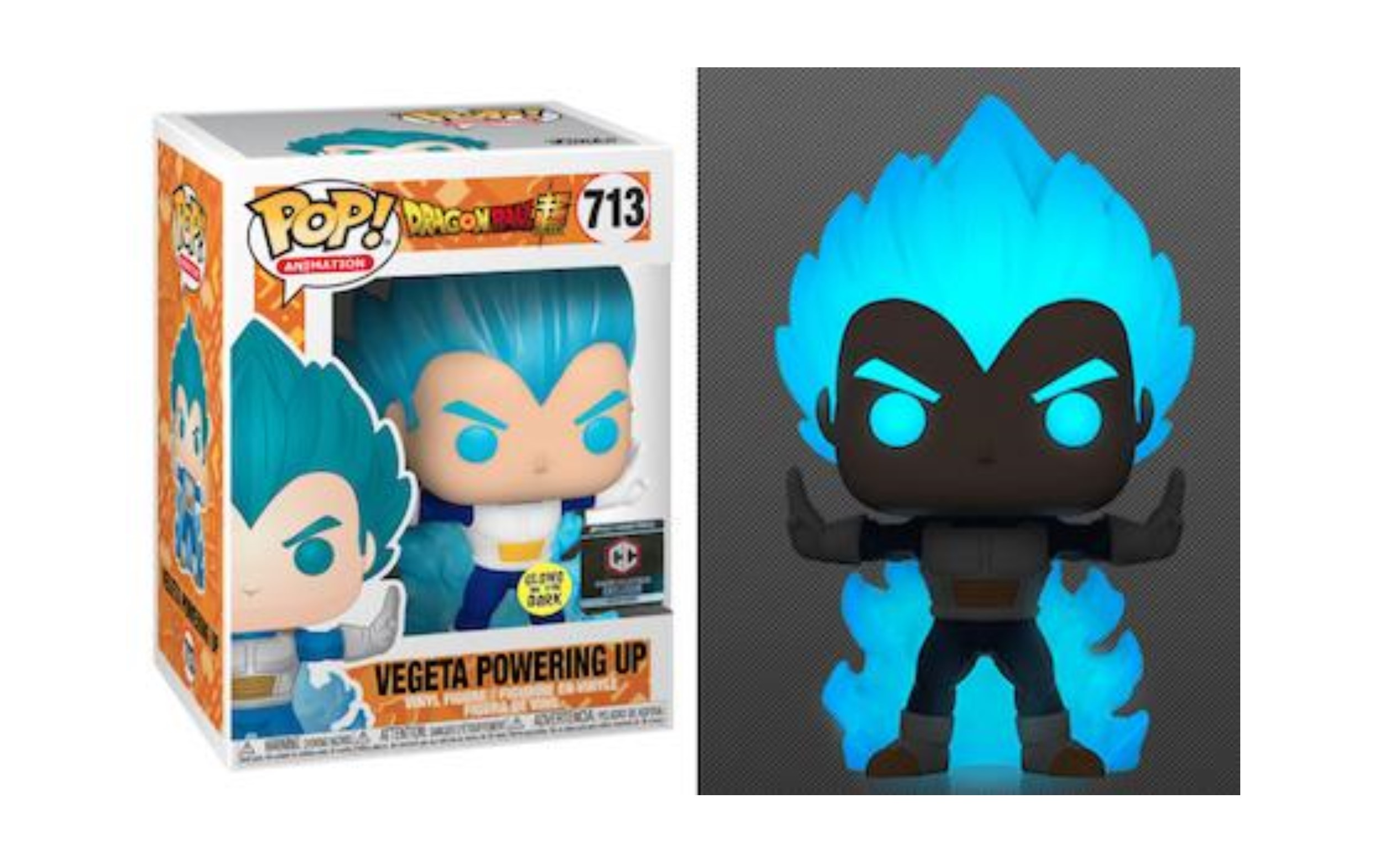 Dragonball Z Vegeta Powering Up Chalice GITD 713 Funko POP Vinyl Figure