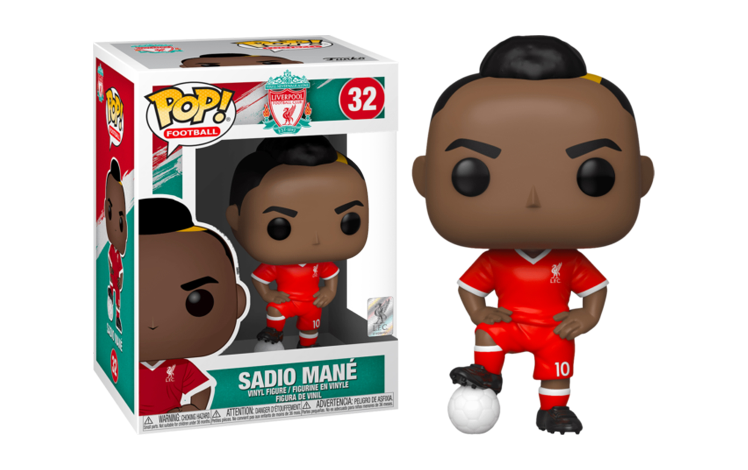 Liverpool Football Club Sadio Mane' 32 Funko POP Vinyl Figure