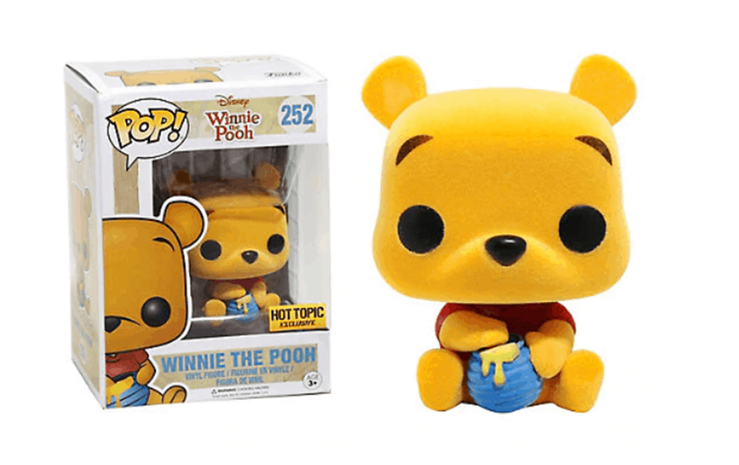 Disney Winnie The Pooh Flocked Hot Topic 252 Funko POP Vinyl Figure
