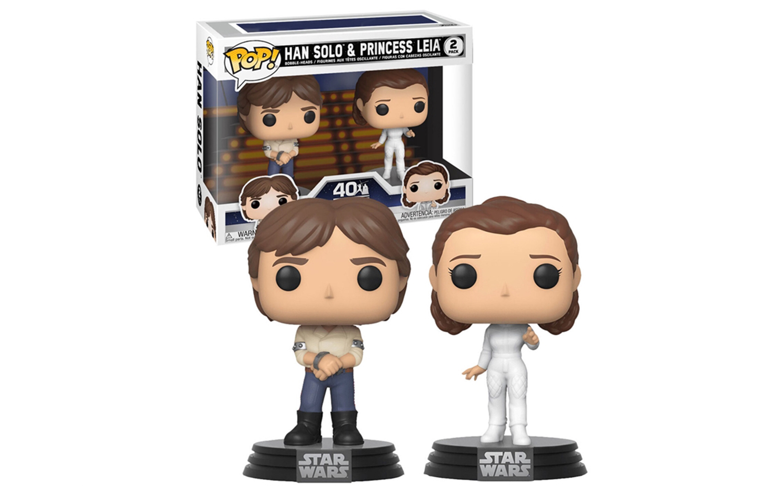 Star Wars Han Solo and Princess Leia 2 Pack Funko POP Vinyl Figure