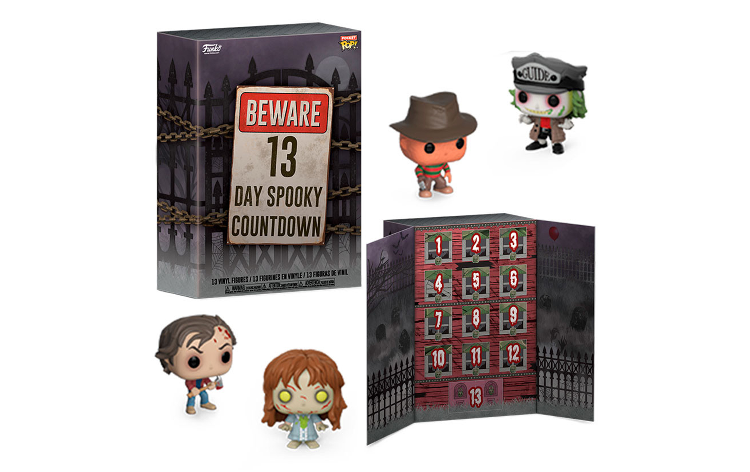 13 Days Spooky Countdown Advent Calendar Funko Pocket POP Vinyl Figure