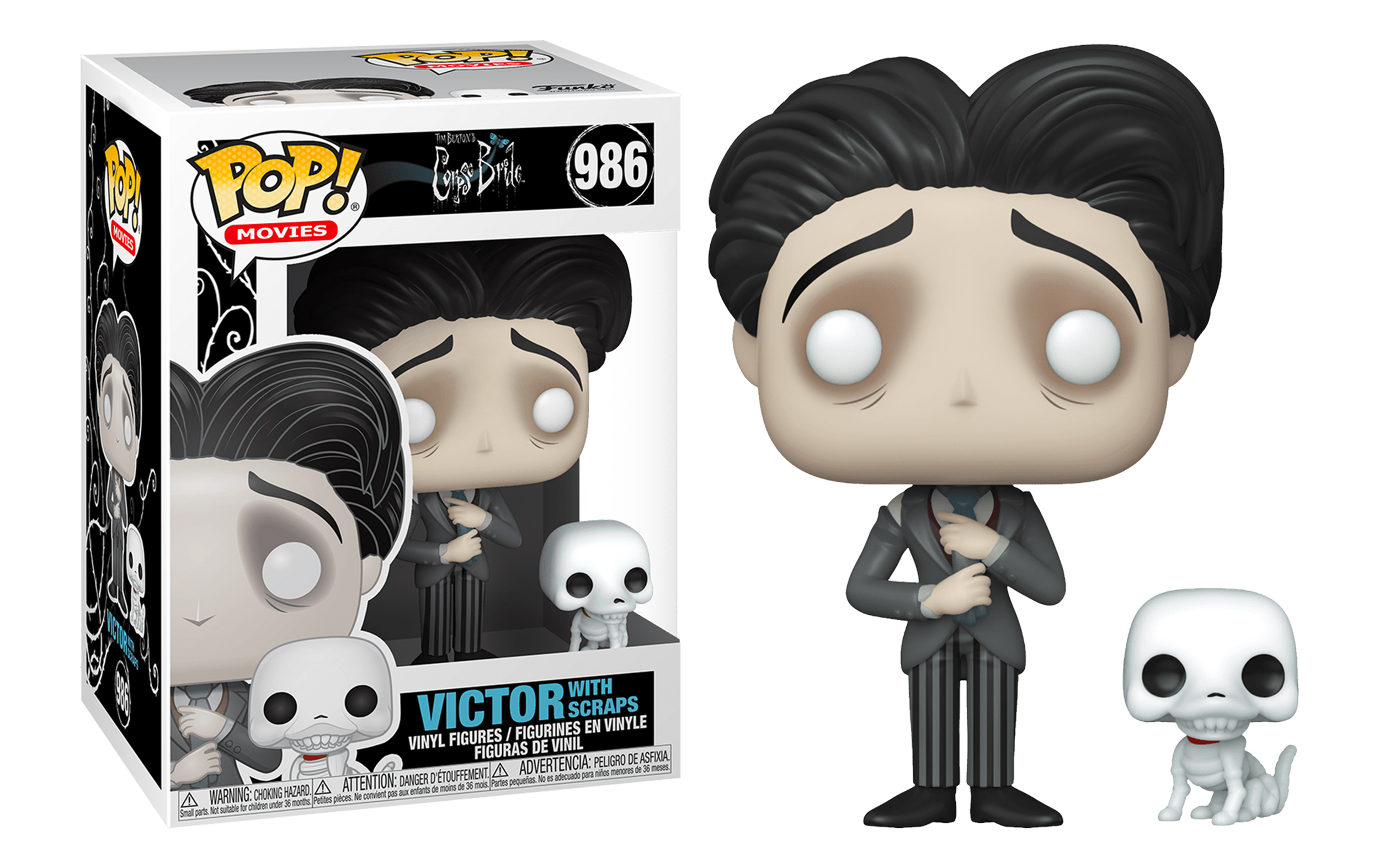 Corpse Bride Victor with Scraps 986 Funko POP Vinyl Figure
