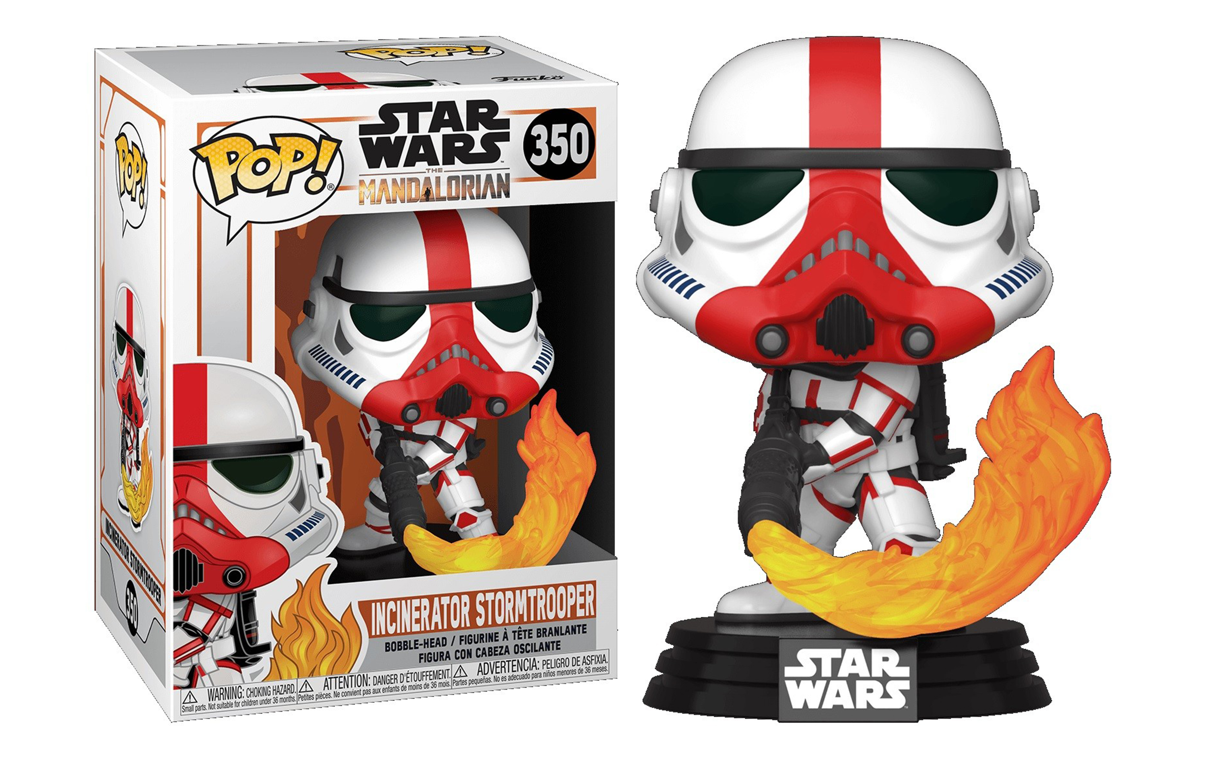 Star Wars The Mandalorian Incinerator Strormtrooper 350 Funko POP Vinyl Figure