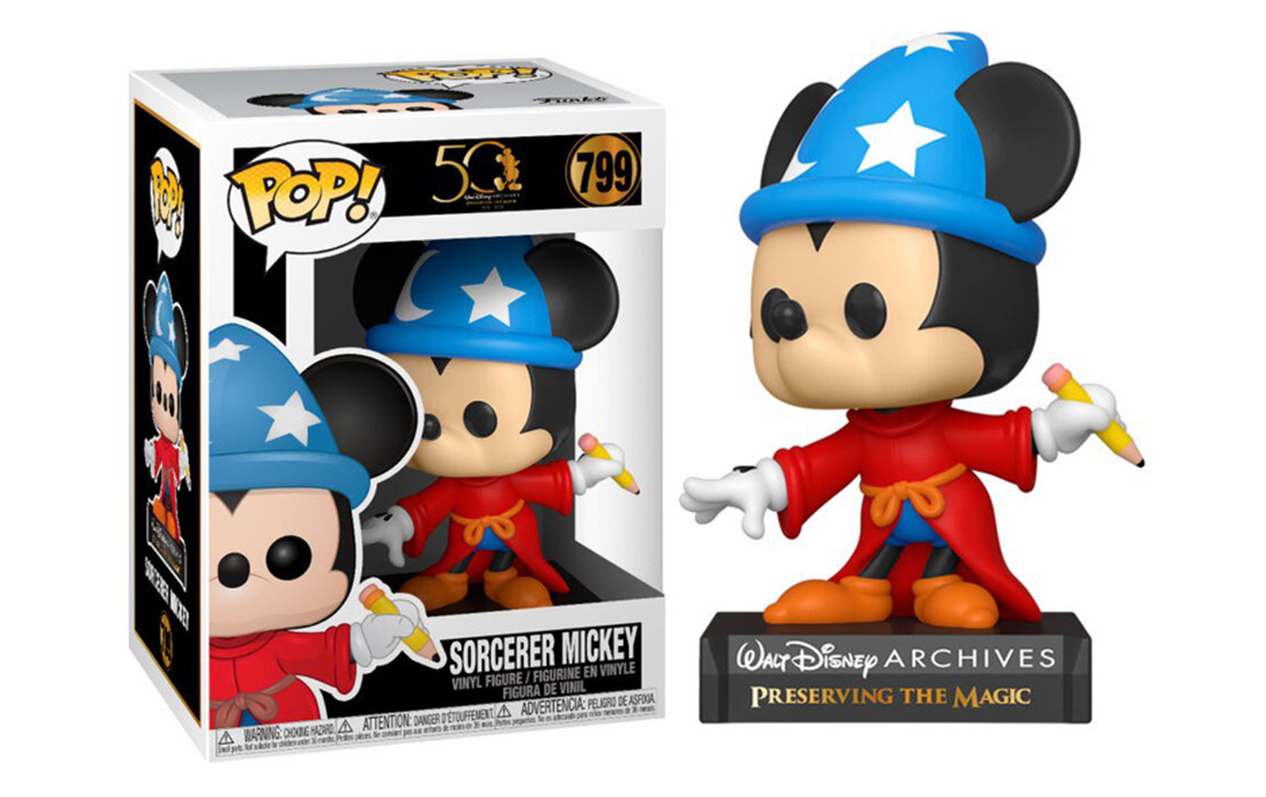 Disney Sorcerer Mickey 799 Funko POP Vinyl Figure