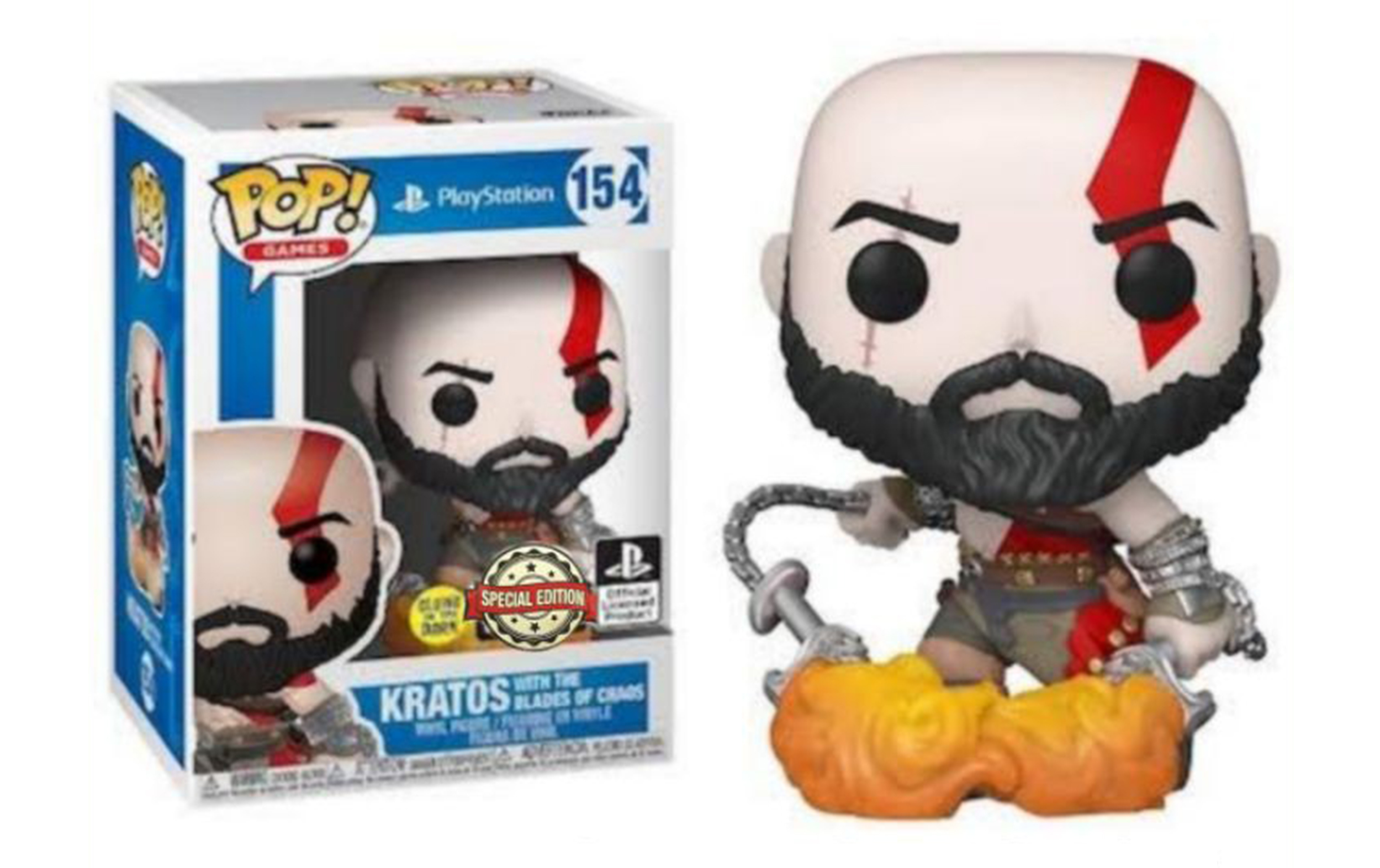 God of War Kratos with the Blades of Chaos GITD 154 Funko POP Vinyl Figure