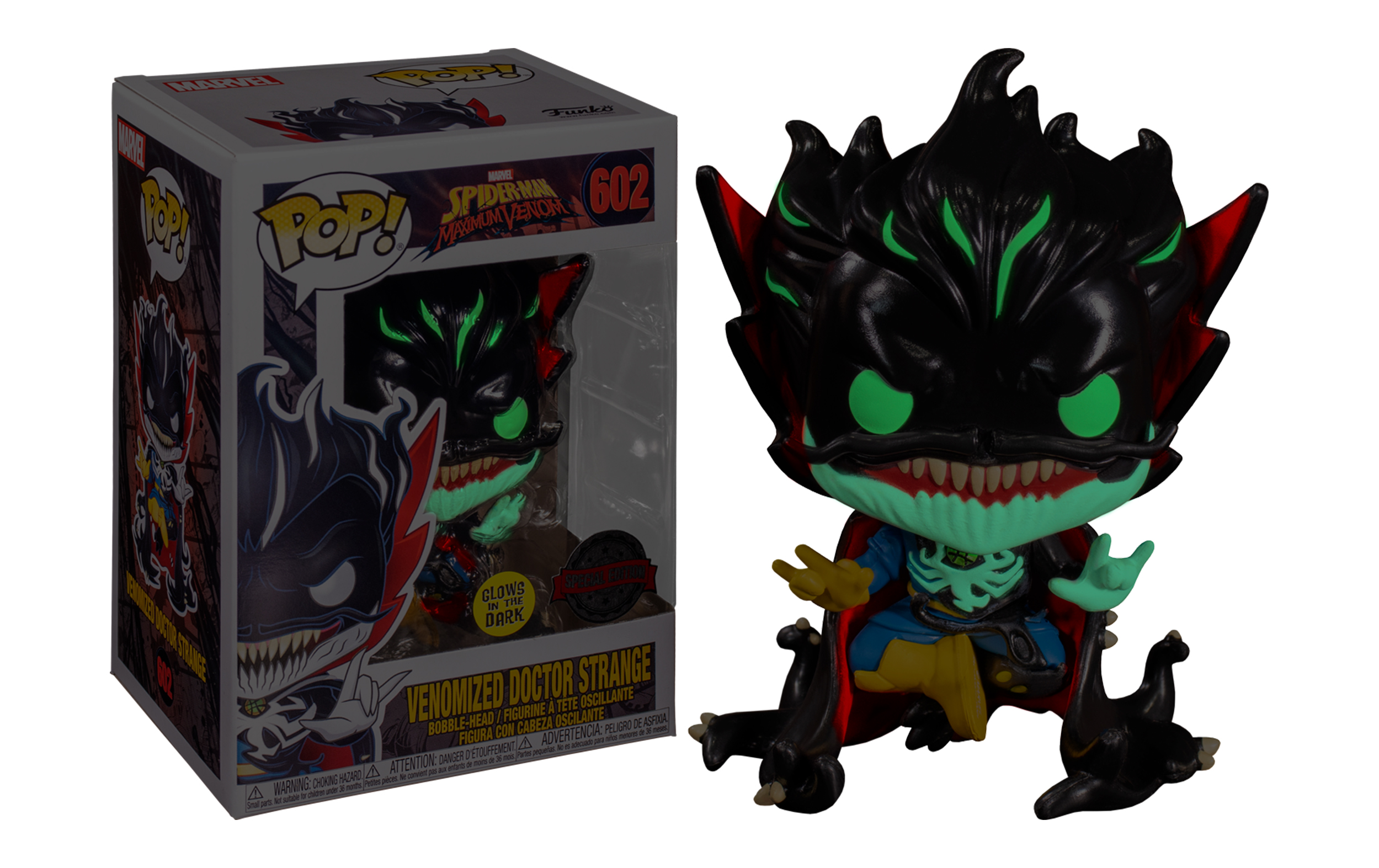 Marvel Venomized Doctor Strange GITD 602 Funko POP Vinyl Figure