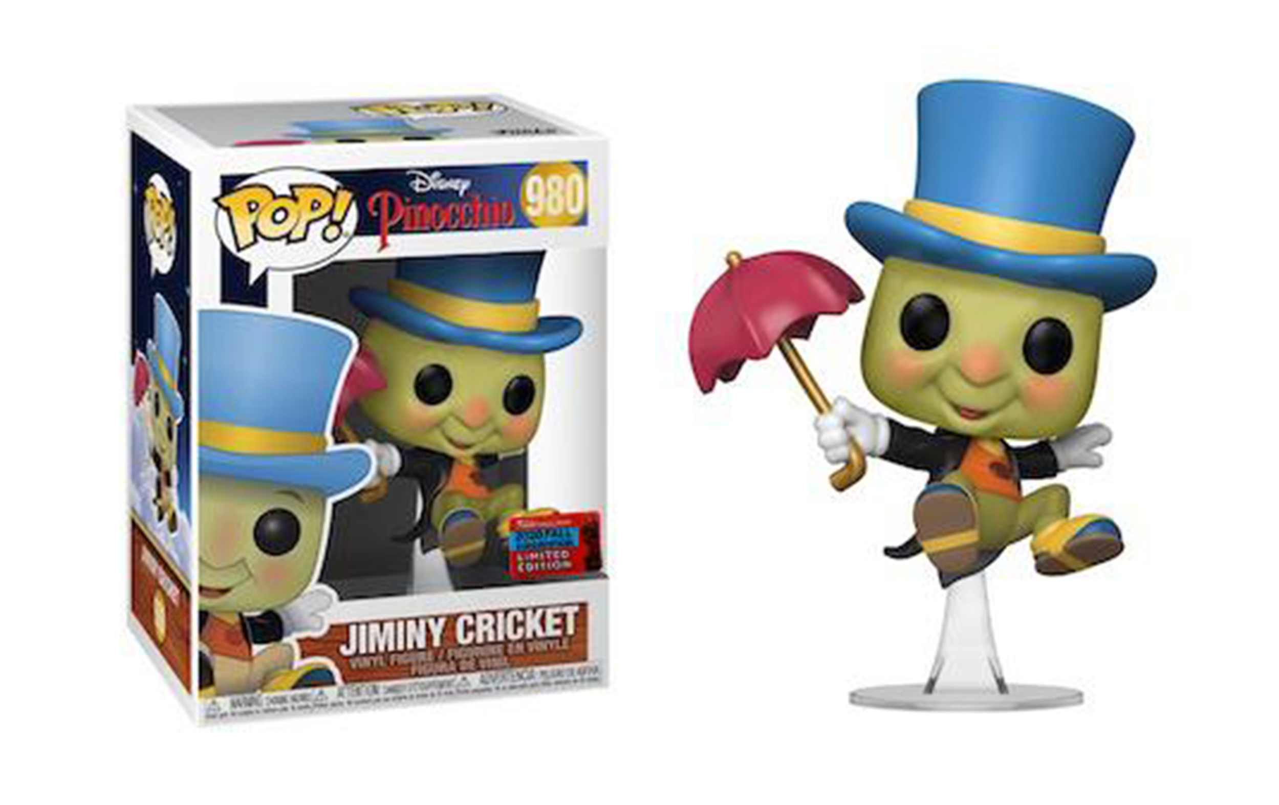 Disney Pinocchio Jiminy Cricket Fall Convention 2020 980 Funko POP Vinyl Figure