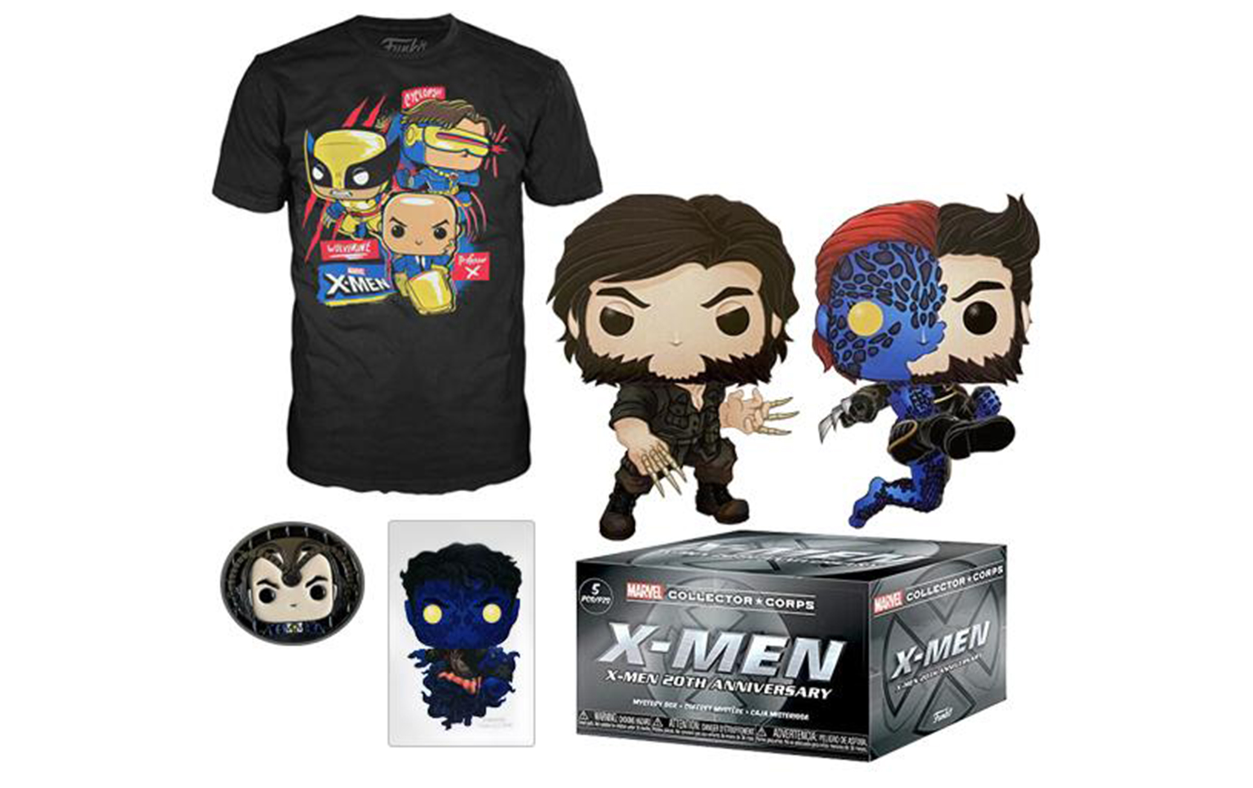 Marvel X-Men Collector Corps Box Funko POP Vinyl Figure Taglia L
