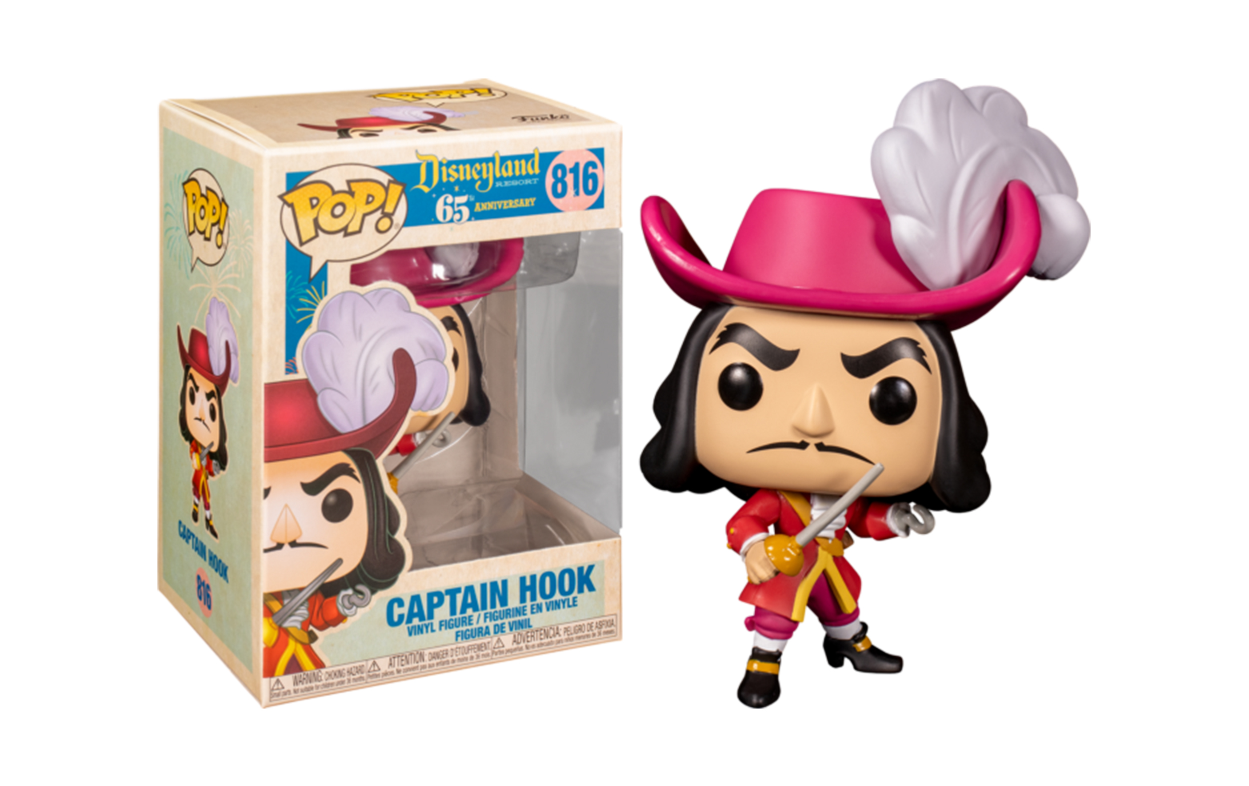 Disneyland 65th Anniversary Captain Hook 816 Funko POP Figure