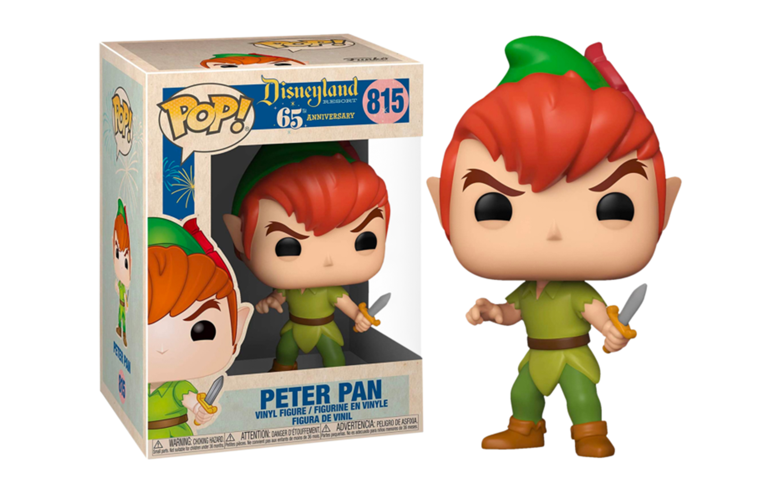 Disneyland 65th Anniversary Peter Pan 815 Funko POP Figure