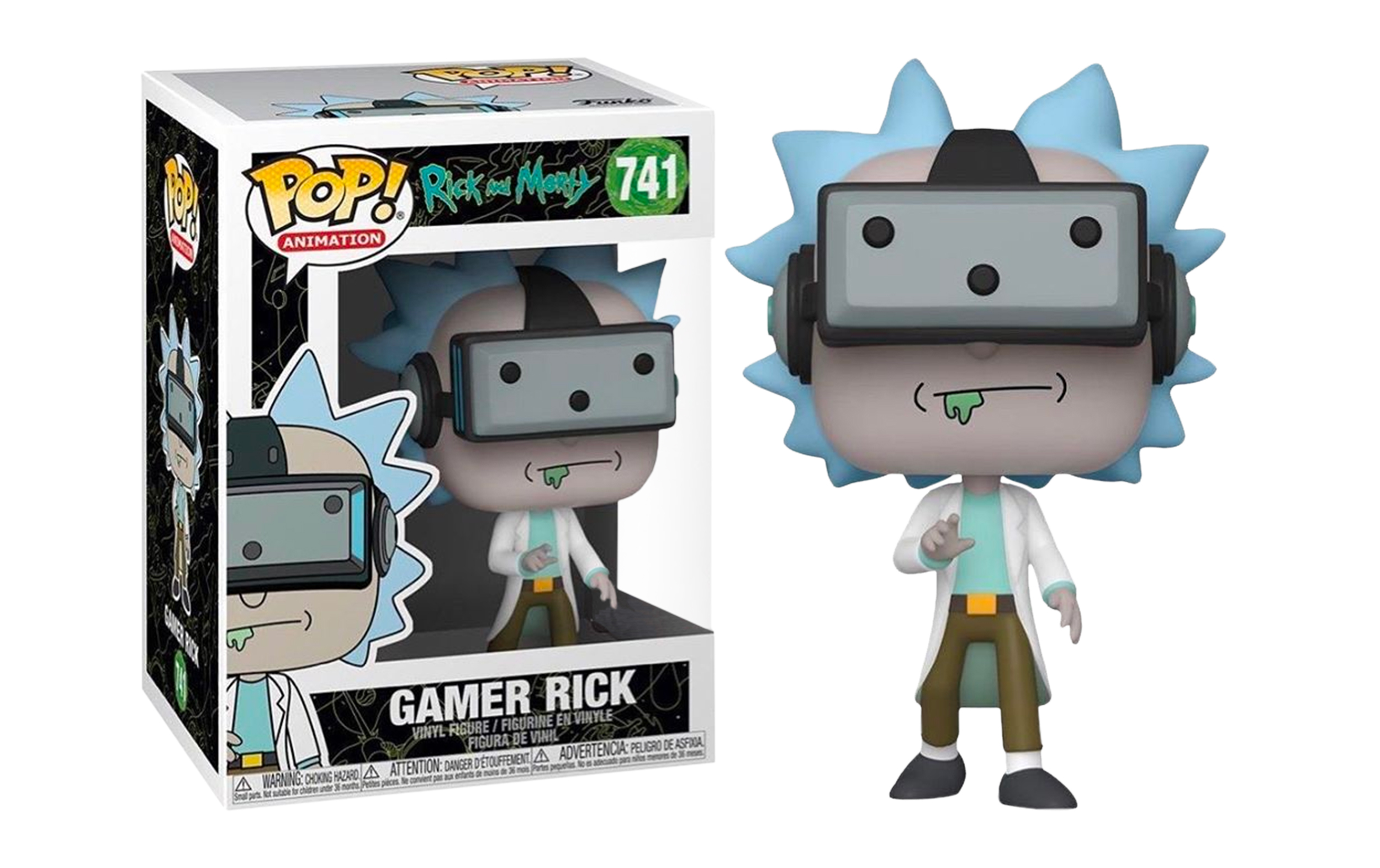 Rick and Morty Gamer Rick 741 Funko POP Vinyl Figure