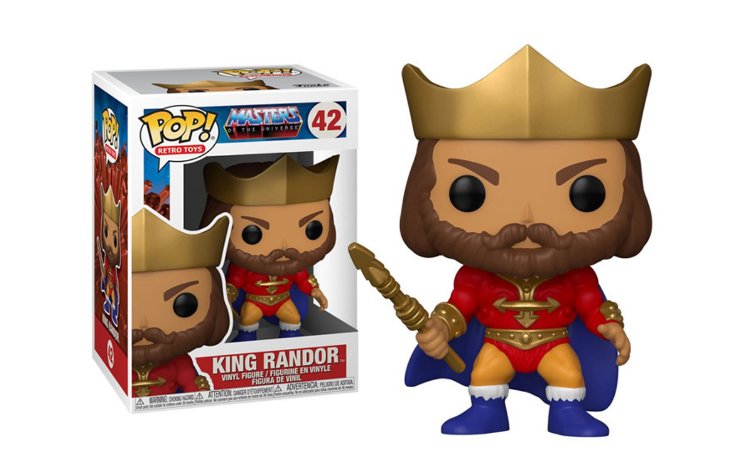 Masters of the Universe King Randor 42 Funko POP Vinyl Figure