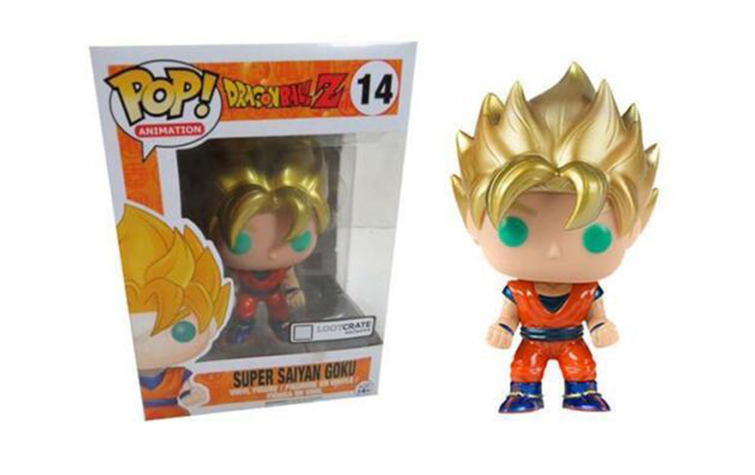 Dragon Ball Z Goku Super Saiyan Metallic Lootcrate 14 Funko POP Vinyl Figure