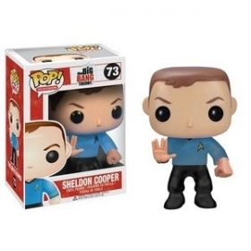 The Big Bang Theory Sheldon Cooper Star Trek 73 Funko POP Vinyl Figure