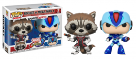 Marvel Vs Capcom Rocket and Megaman 2 Pack Funko POP Vinyl Figure