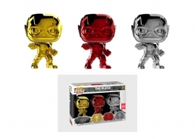 DC Comics The Flash Chrome 3 Pack SDCC 2018 Funko POP Vinyl Figure