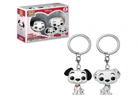 Disney 101 Dalmatians Pongo and Perdita Funko Pocket POP Keychains