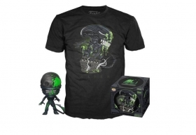 Alien 40th Anniversary Alien Pop and Tee Box Funko POP Vinyl Figure Taglia M