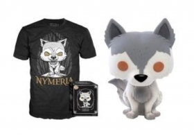Game Of Thrones Nymeria Pop and Tee Funko POP Vinyl Figure Taglia M