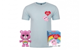 Care Bears Rainbow Bear Flocked Pop and Tee Box Funko POP Vinyl Figure Taglia M