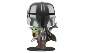 "Star Wars The Mandalorian with The Child 10"" 380 Funko POP Vinyl Figure"