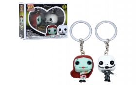Nightmare Before Christmas Jack and Sally Funko POP Vinyl Keychain