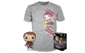 Back To The Future Marty Mcfly Pop and Tee Funko POP Vinyl Figure Taglia M